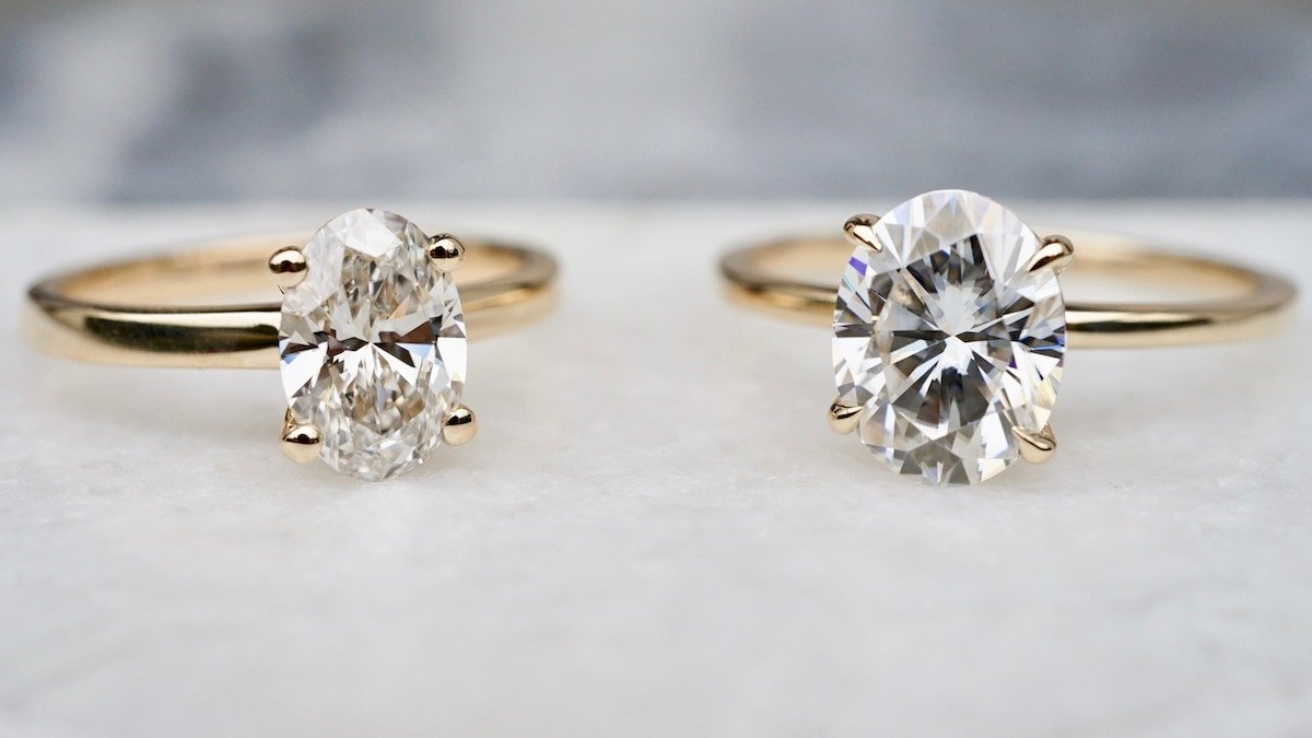Moissanite vs. Diamond: Which One Should You Choose for ...